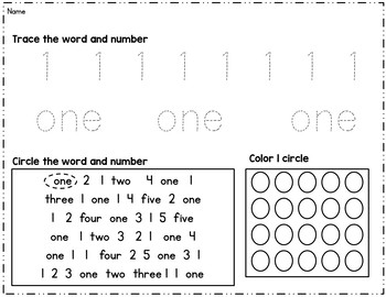 "Numbers 0-20: Dot-to-Dot ""Number Hunt""  Sheets and Practice Pages"