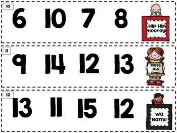 Number ID Fluency Sliders 0-20