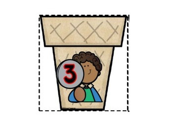 Number Ice-Cream Scoops 1-20