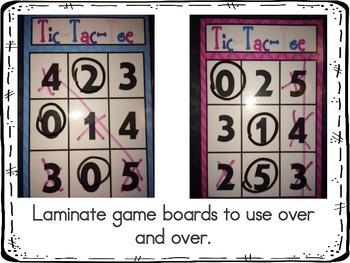 Number Identification 0-10: Tic Tac Toe