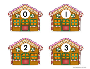 Number Identification 0-100 Game - Gingerbread