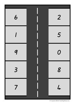 Number Identification 0-100  'Park the Car' activity