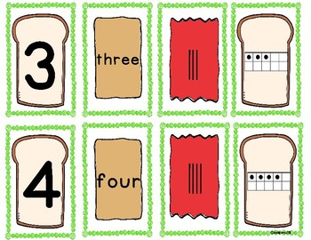 Number Identification: 1-10~Peanut Butter and Jelly