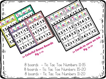 Number Identification 11-20: Tic Tac Toe