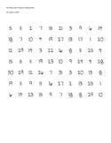 Number Identification Assessment 1-31
