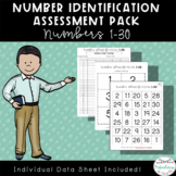 Number Identification Assessment Pack: Numbers 1-30 | Dist