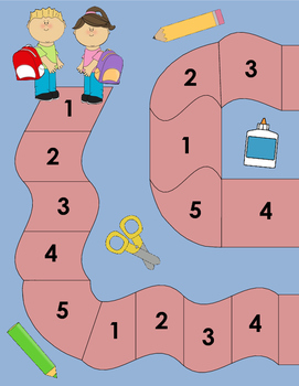 Number  Identification Board Game: Numbers 1-5 (Spanish and English)