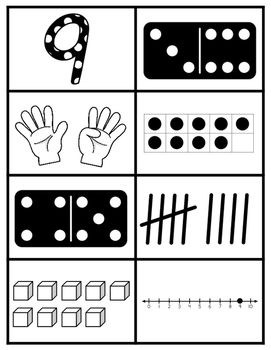 Number Identification Cards 1-10