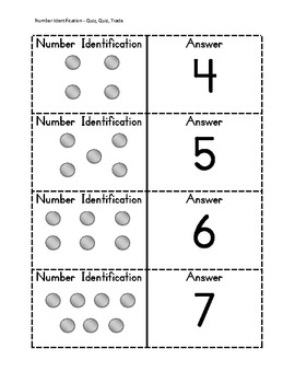 Number Identification - Cooperative Learning Game Quiz - Quiz - Trade