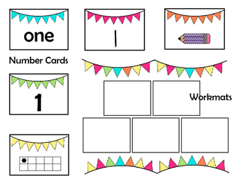 Number Identification & Counting Workmats