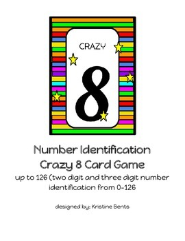Number Identification Crazy 8 game