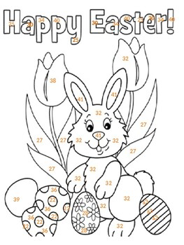 Number Identification: Easter Coloring