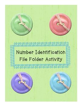 Number Identification File Folder Activity