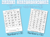 Number Identification Fluency Assessments -- 1-30 /  1-50