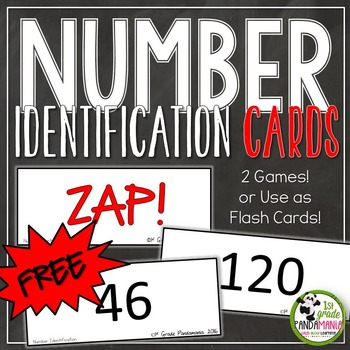 Number Identification Fluency Games and Flash Cards FREEBIE