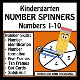 Number Identification, Formation & Counting - NO PREP Spinners