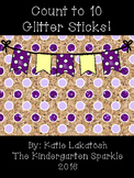 Number Identification Glitter Sticks