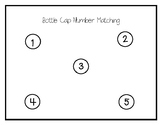 Number Identification Math Center - Bottle Cap Matching 1-5