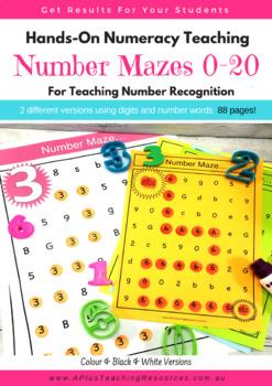 Number Identification Mazes 0-20