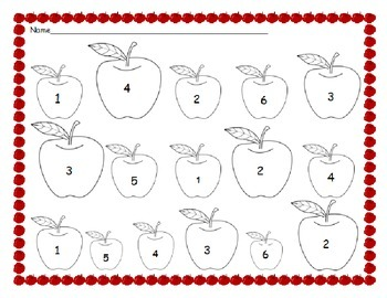 Number Identification Monthly Worksheets