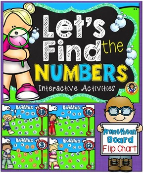 Number Identification PROMETHEAN BOARD Flip Chart and Printables