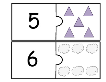 Number Identification Puzzle Cards