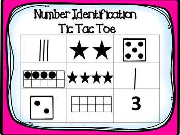 Number Identification Tic-Tac-Toe 0-5