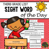 Sight Words: Third Grade Sight Words Worksheets (Sight Word of the Day)