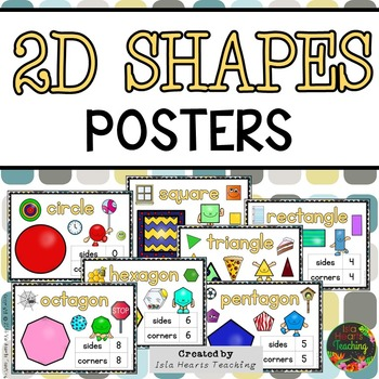 Geometry Posters: 2D Shapes Posters