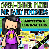 Early Finishers: Math Early Finishers Activities / Math Morning Work (1st & 2nd)