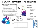 Number Identification Worksystems (4 different task boxes