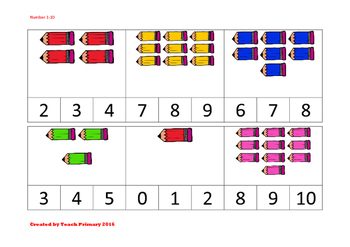 Number Identification, before, after and between 1-10