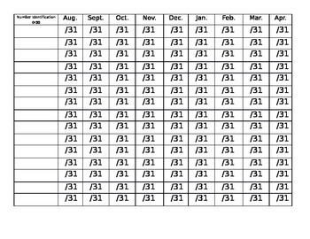 Number Identification to 30 Data Sheet
