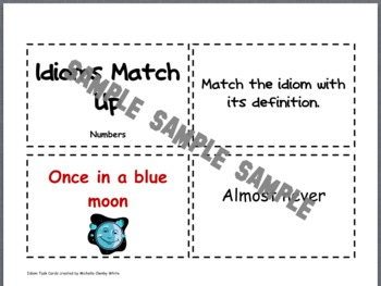 Number Idiom Task Cards