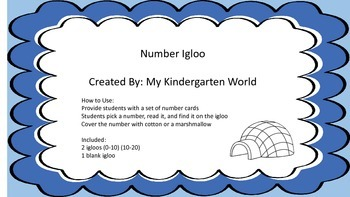 Number Igloo