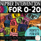 Number Intervention Flip Books for Numbers 0-20