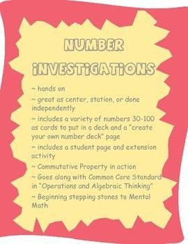 Number Investigations: Number Sense
