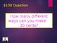 Number Jeopardy Kindergarten - 2nd Grade