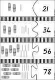 Number Jigsaw - 2 digit numbers with bundling sticks