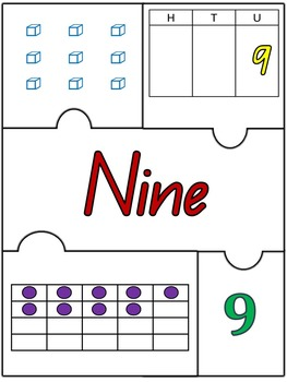 Number Jigsaw Puzzles. Numbers 1 to 10