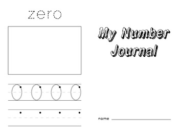 Number Journal 0-10