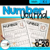Number Journal for Numbers 0-20