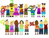 Math Clip Art Number Kids 0-9 and math symbols