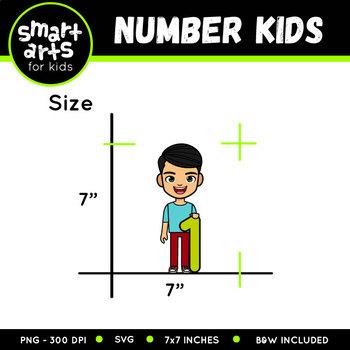 Number Kids 0-10 Clip Art