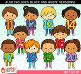 Number Kids 11-20 Clip Art
