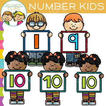 Number Kids Clip Art