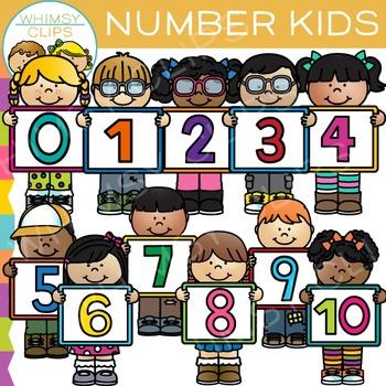 Number Kids Clip Art