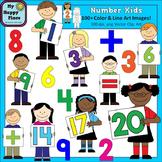 Number Kids Clip Art: Including Teen Numbers!