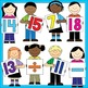 Number Kids Clip Art: Including Teen Numbers!