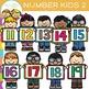 Kids Number Clip Art - Set Two